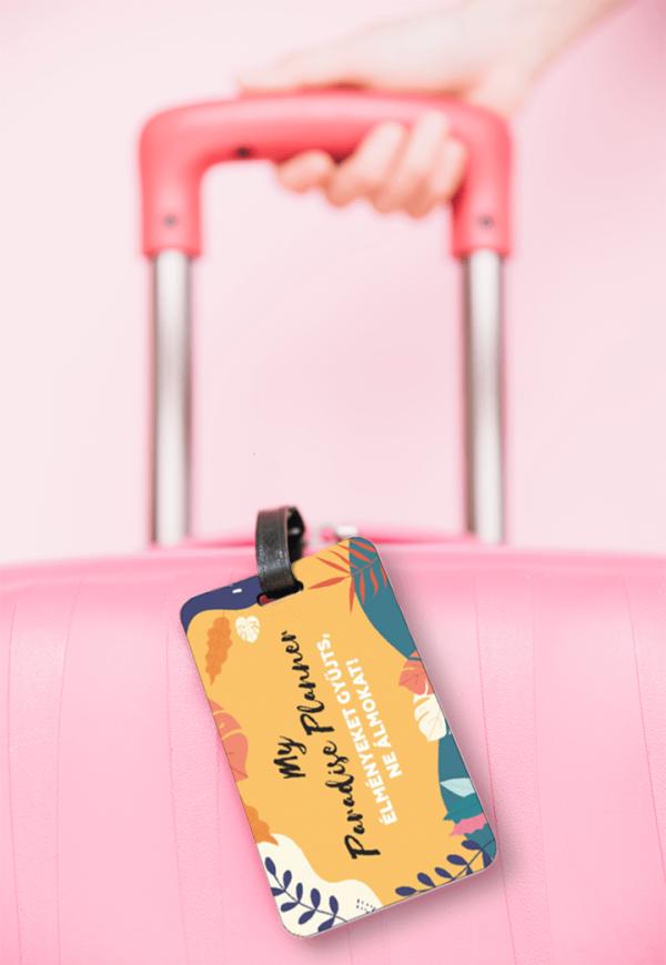 My Paradise Planner bőröndcímke